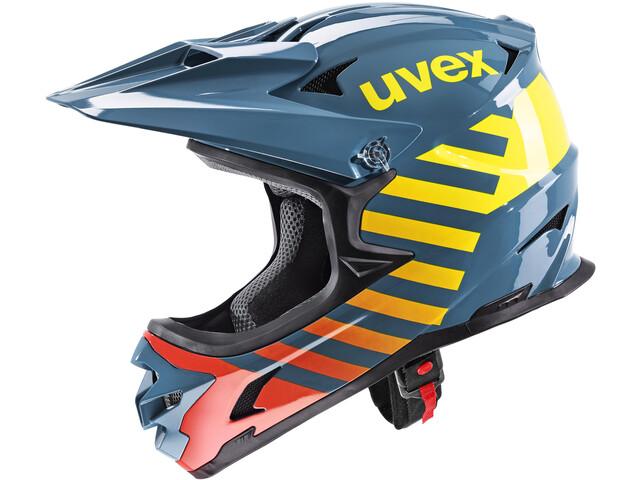 UVEX hlmt 10 Bike Casco, azul/amarillo